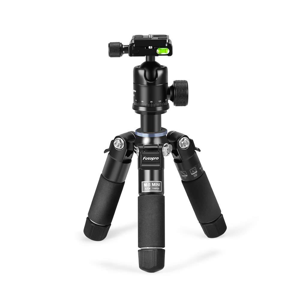 Canon C/ámara Tr/ípode de Aluminio Nikon Smartphone Fotopro 144cm Tr/ípode Viaje Sony Tripode Port/átil con Cabeza de 2 V/ías para C/ámara DSLR Gopro Rojo