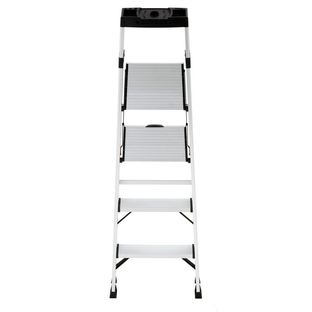 4-Step Hybrid Step Stool Ladder w/ Tool Storage Tray & 250 lb. Capacity