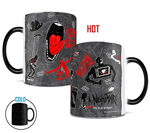 Nightmare on Elm Street - How Sweet Fresh Meat - Morphing Mugs Heat Sensitive Mug - Ceramic Color Changing Heat Reveal Coffee Tea Mug - by Trend Setters Ltd.