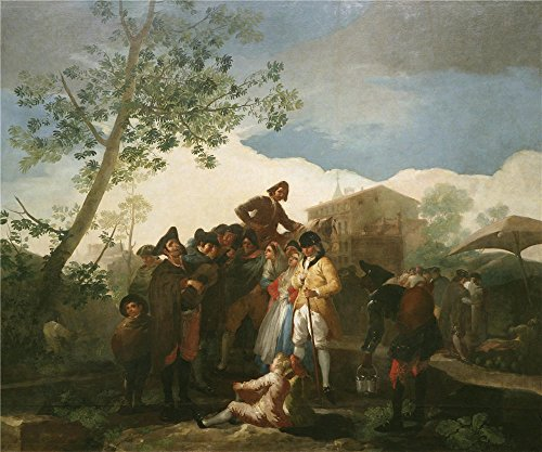 Polyster Canvas ,the Vivid Art Decorative Prints On Canvas Of Oil Painting 'Goya Y Lucientes Francisco De The Blind Guitarrist 1778 ', 12 X 14 Inch / 30 X 37 Cm Is Best For Kids Room Artwork And Home Gallery Art And Gifts