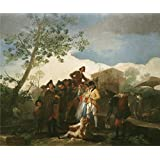 Oil painting 'Goya y Lucientes Francisco de The Blind Guitarrist 1778 ' printing on high quality polyster Canvas , 10 x 12 inch / 25 x 30 cm ,the best Bathroom artwork and Home artwork and Gifts is this Reproductions Art Decorative Prints on Canvas