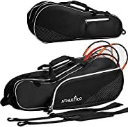Athletico 6 Racquet Tennis Bag | Padded to Protect Rackets & Lightweight | Professional or Beginner Tennis