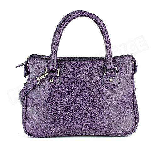 Mini-bolsa De Piel Para Monaco De Fabricación Francesa. Mini-bag Skin Monaco French Manufacturing. Morado Purple