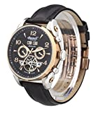 """Ingersoll Men's IN4514RBK """"San Bernardino"""" Stainless Steel Automatic Watch with Black Leather Band"""