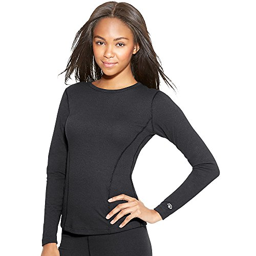 Duofold Women's Heavy Weight Double Layer Thermal Shirt, Black, Small (Top Thermal Heavyweight)