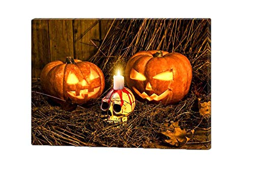 LED Lighted Spooky Halloween Jack-O-Lantern