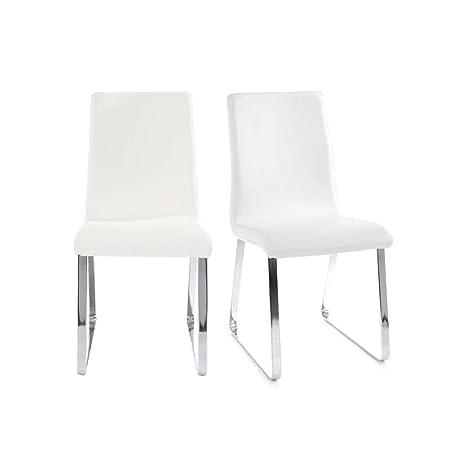 Miliboo - Gruppo di 2 sedie design bianche BELLA: Amazon.it: Casa e ...