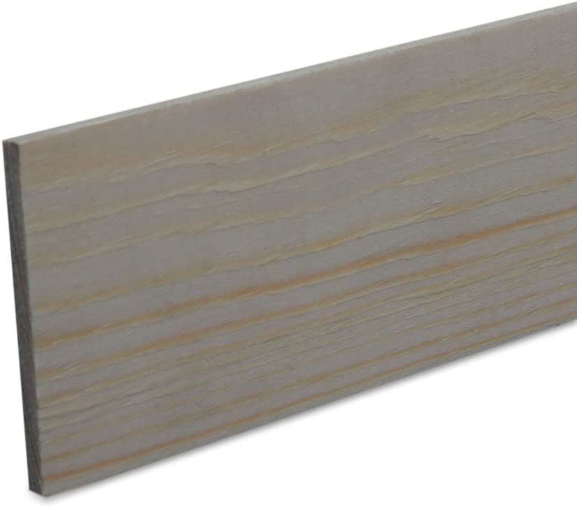 Rechteckleiste Bastelleiste Abschlussleiste aus unbehandeltem Kiefer-Massivholz 900 x 3 x 5 mm