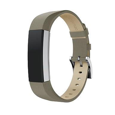 Correa de Reloj Casual, YpingLonk Cortical Para Fitbit Alta/Alta HR Watch Clásico Essential Original Pulsera Banda Relojes Diseño Liso Brillando Ligero ...