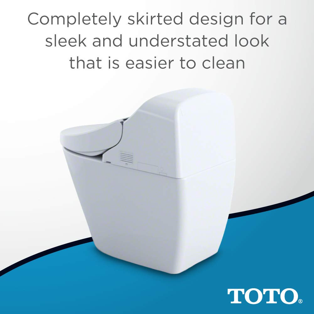 Toto MS920CEMFG#01 1 28-GPF/0 9-GPF Washlet with Integrated Toilet