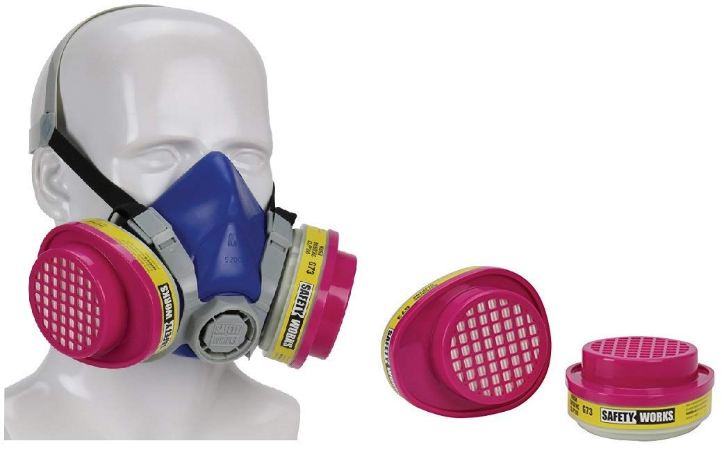 MSA Safety Works 817663 Multi-Purpose Respirator (Mask + 2 Refills) by Safety Works