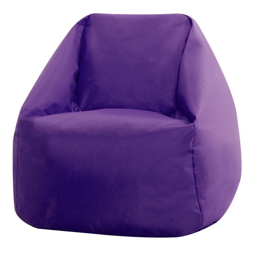 Small Indoor Outdoor Childrens BeanBags Bean Bag Bazaar Kids Hi-Rest Chair-Blue