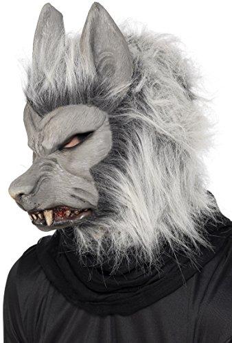 Smiffy's Unisex Werewolf Mask, Grey, One Size, (Werewolf Mask For Kids)