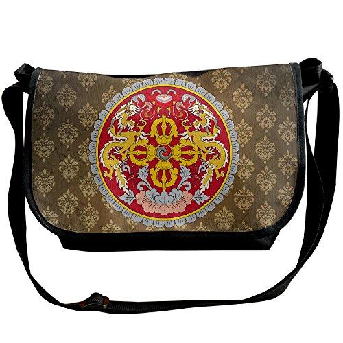 Lov6eoorheeb Unisex Coat Of Arms Of Bhutan Wide Diagonal Shoulder Bag Adjustable Shoulder Tote Bag Single Shoulder Backpack For Work,School,Daily by Lov6eoorheeb (Image #5)