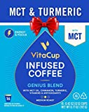 Cheap VitaCup Genius Blend 16ct. Top Rated Coffee Cups with MCT, Turmeric, and Cinnamon Infused With Essential Vitamins B12, B9, B6, B5, B1, and D3, Pods Compatible with K-Cup Brewers including Keurig 2.0