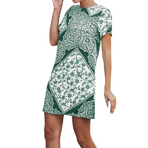 Summer Dress Long Skirt Women's Sexy Off Shoulder Multiple Dress Layered Party Cocktail Mini Dresses Elastic Waist Stretch Bodycon Midi Pencil Skirt Green ()