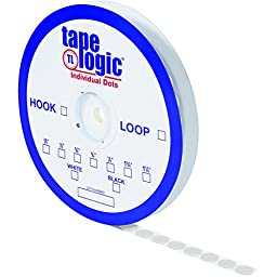 Tape Logic HLT143 Rubber Individual Dot Tape with Loop, 3/8\