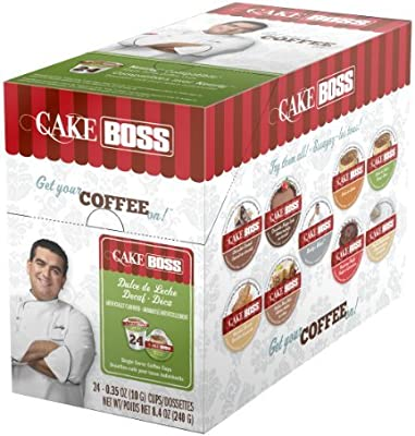 Cake Boss Coffee Dulce De Leche Decaf Single Serve Cups 4 x 24 (96) Count by Cake Boss Coffee