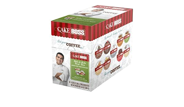 Cake Boss Coffee Dulce De Leche Decaf Single Serve Cups 4 x 24 (96) Count by Cake Boss Coffee: Amazon.com: Grocery & Gourmet Food