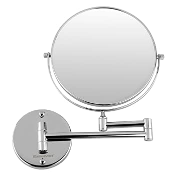 Excelvan 10x Magnification 8 Inch Double Sided Swivel Wall Mount Makeup  Mirror, 12 Inch