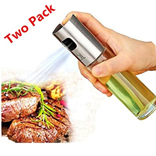 Olive Oil Sprayer Portable Kitchen Grill Cooking Oil Trigger Sprayer Bottle for BBQ/Cooking/Vinegar(Two Packs)