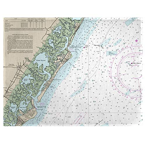 - Betsy Drake Little Egg Inlet Avalon, NH Nautical Map Place Mat Set of 4