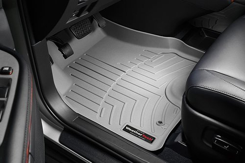 (WeatherTech Custom Fit Front FloorLiner for Ford Fusion, Grey)