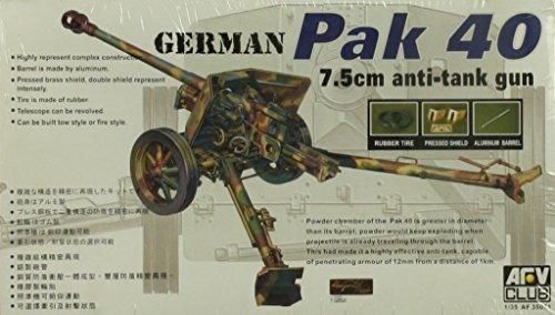 (AFV Club 1:35 WWII German Pak 40 7.5cm Anti Tank Gun Plastic Model Kit #AF35071)
