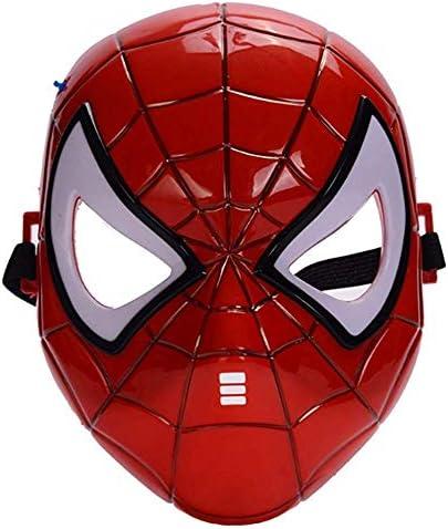 Morningsilkwig spiderman masker Comics Kostuum Superheld Eye Mask Marvel Spiderman Hero KidsSpiderMan Gloeiend masker