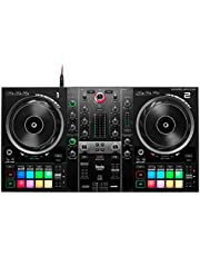 Hercules DJControl Inpulse 500: 2-decks USB DJ-controller voor Serato DJ Lite en DJUCED (meegeleverd). Ingebouwde audioversterker, 16 RGB-pads met achtergrondverlichting, grote jogwielen,