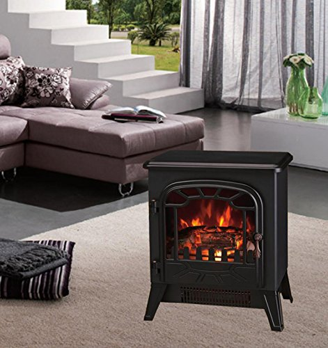 Lincsfire New 1850w Portable Electric Stove Fire Place