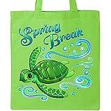 Inktastic - Spring Break- cute sea turtle Tote Bag Lime Green 2e778