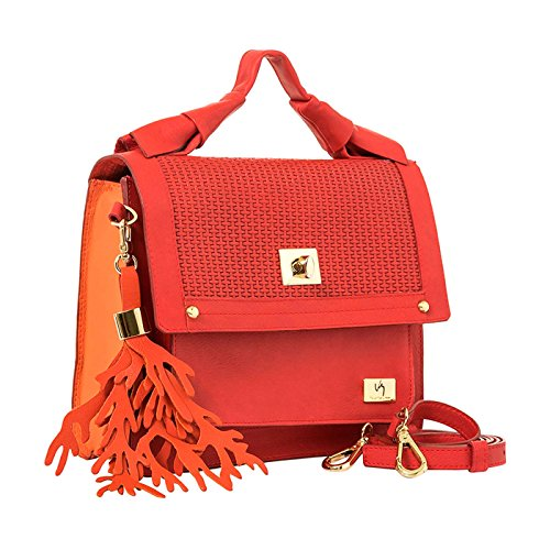Women Purse Mujer Leather Velez Cuero Handbag Colombian Red Carteras de para 1020664 Genuine UvqOd