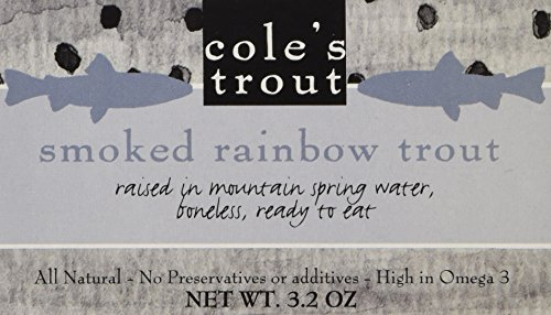 COLES TROUT SMOKED, 3.2 OZ, Pack of - Smoked Fish