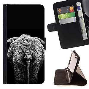For LG G3 Case , Negro minimalista África Gris- la tarjeta de Crédito Slots PU Funda de cuero Monedero caso cubierta de piel