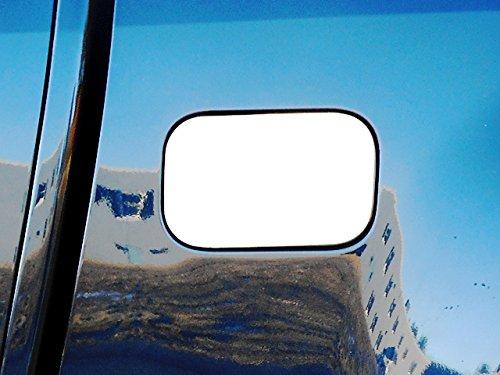 (QAA FITS Colorado 2015-2019 Chevrolet (1 Pc: Stainless Steel Fuel/Gas Door Cover Accent Trim, 2/4-door, Long Bed - 6'2