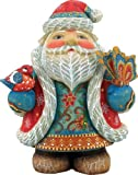 G. Debrekht Old World Flitter Flutter Sant a Figurine, 5-Inch Tall, Limited Edition of 900, Hand-Painted