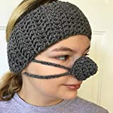 Gray Ear Warmer Nose Warmer Set by Aunt Marty