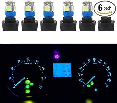 10X PC168 T10 5050 LED Twist Lock Socket Wedge Dash Cluster Ice Blue Light Bulb
