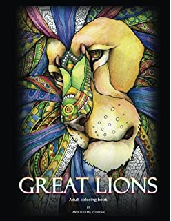 Adult Coloring Book Great Lions