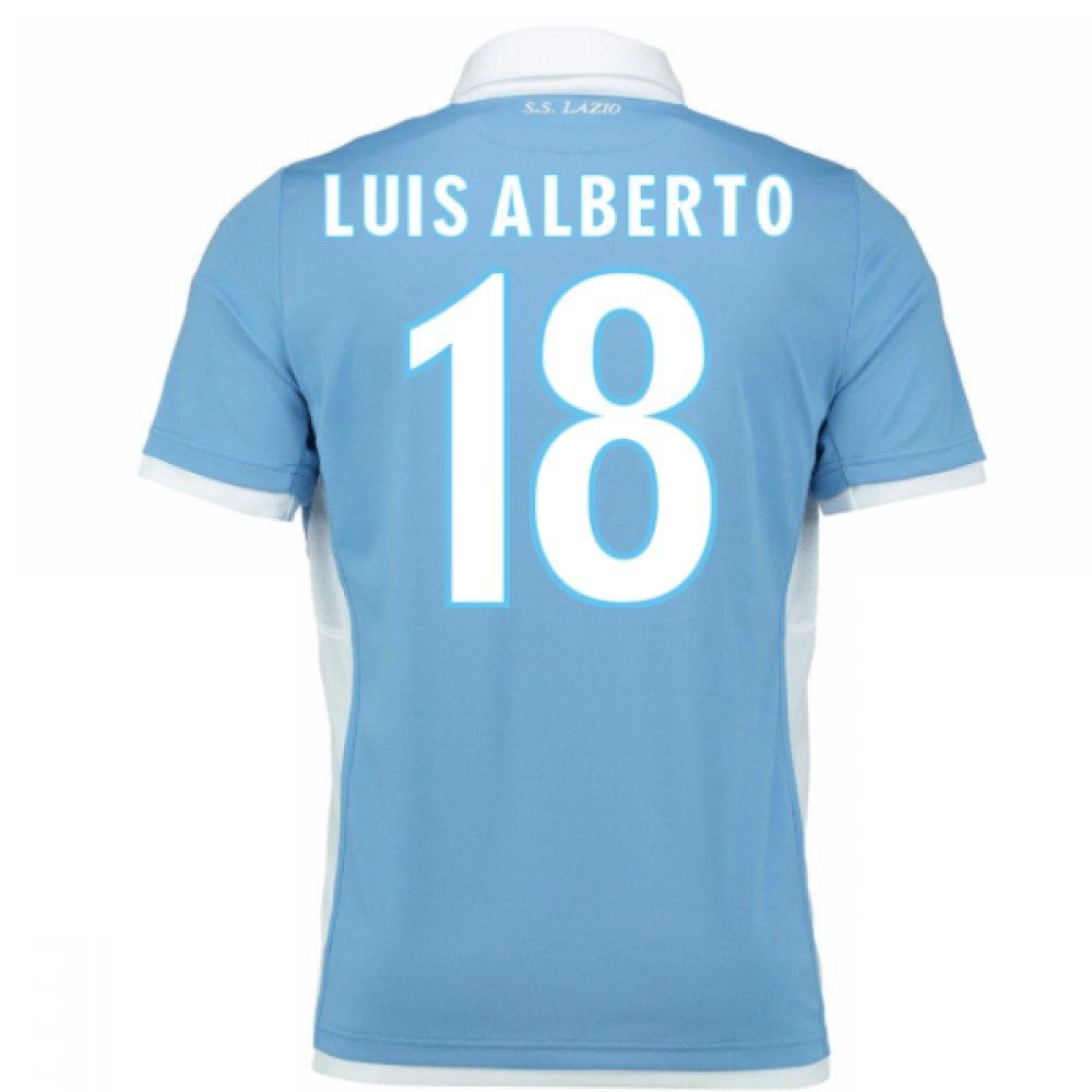 2016-17 Lazio Home Football Soccer T-Shirt Trikot (Luis Alberto 18)