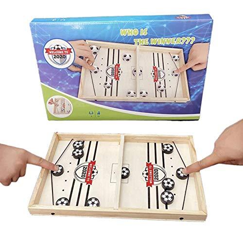 Easy-topbuy Juegos De Tablero Rapido, Juegos De Mesa Slingpuck Boardgame Juego De Mesa De Futbol para Familiares, Ninos Y Adultos