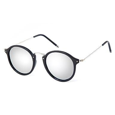 0943efd88f MT MIT Classic Retro Small Round Polarized Mirror Lens Metal Frame Unisex  Sunglasses