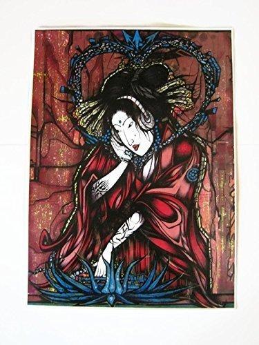 DJ Geisha Art Print,