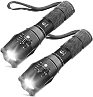 Tactical Flashlight, YIFENG XML T6 Ultra Bright LED Flashlight with Adjustable Focus and 5 Light Modes for Cam