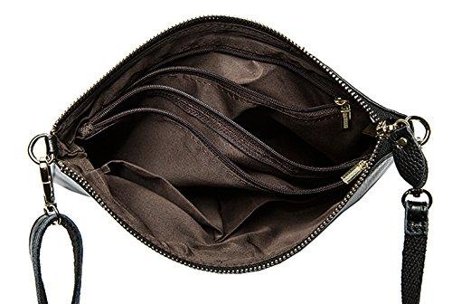 Bags Shoulder Designer Red SAIERLONG Ladies Cross Black Wine Leather Body B6wW1Y1qxS