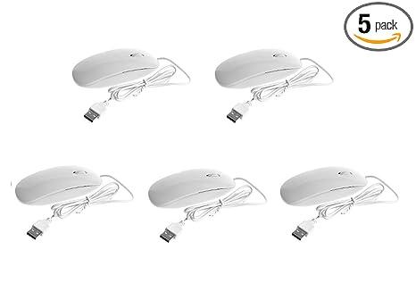 Amazon.com: (5 Pack) BacchaBox White Wired USB 1000 DPI Optical ...