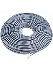 RJ11 6P4C Modular Telephone Extension Cable Phone Cord Line Wire Grey
