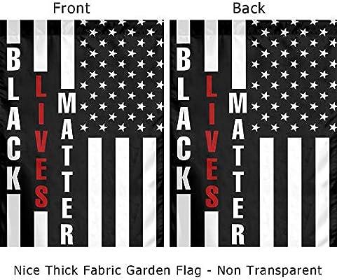 Amazon Com Black Lives Matter Flag Small Black And White American Flag Garden Flag 12x18 Double Sided Outdoor American Garden Flags For Patio Lawn Yard Home Decor Garden Outdoor
