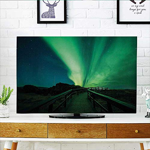 Leighhome Television Protector Wooden Bridge Solar Sky Scenic Radiant Rays Television Protector W25 x H45 INCH/TV 47''-50'' by Leighhome